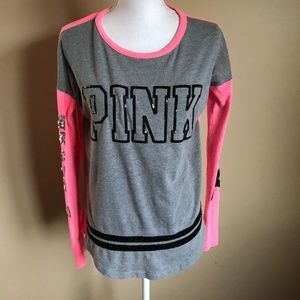 PINK | Long Sleeve Tee w/ Sequins  S